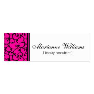 Cartes de visite micro de beauté de damassé de ros cartes de visite professionnelles