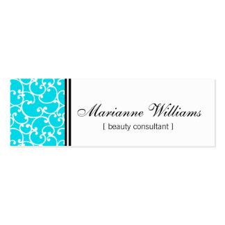 Cartes de visite micro de beauté turquoise de dama modèle de carte de visite