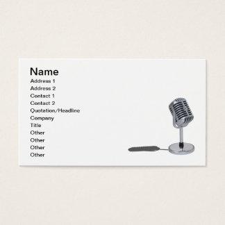 Cartes De Visite Microphone de pilule
