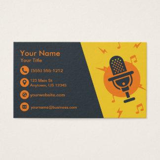 Cartes De Visite Microphone jaune et orange