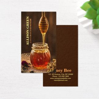 Cartes De Visite Miel facial d'abeille d'aromathérapie de soins de