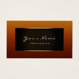 Cartes De Visite Miel noir Brown d'or encadré par Blogger de mode
