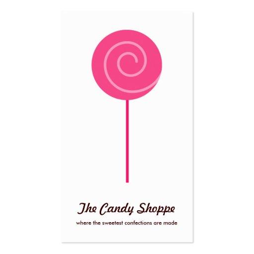 Cartes de visite mignons de magasin de sucrerie de cartes de visite personnelles