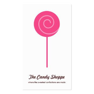 Cartes de visite mignons de magasin de sucrerie de carte de visite standard