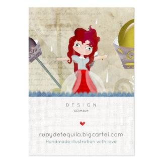 Cartes de visite mignons de poupée de conte de carte de visite grand format
