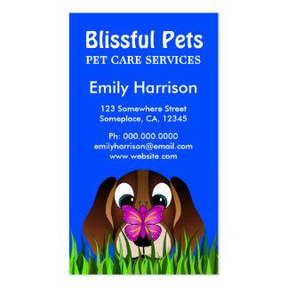 Cartes de visite mignons de soin des animaux carte de visite standard