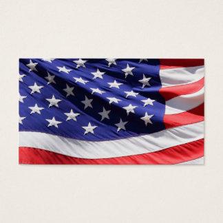 Cartes De Visite Militaires patriotes américains de vétéran de