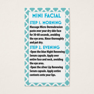Cartes De Visite Mini Facial R +F card- R + F faciale