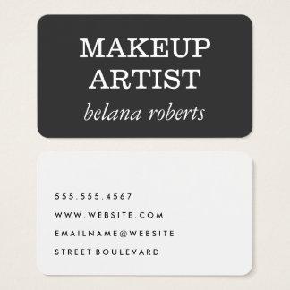 Cartes De Visite Minimaliste de maquilleur (gris/blanc)
