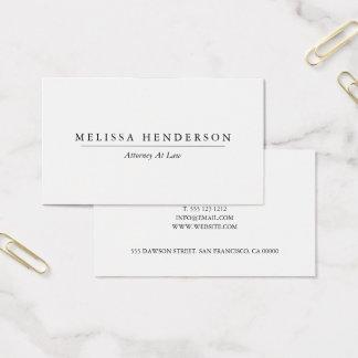 Cartes De Visite Minimaliste élégant professionnel chic