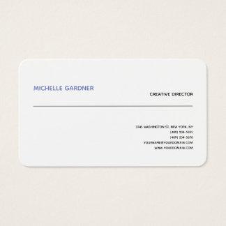 Cartes De Visite Minimaliste moderne simple à la mode blanc