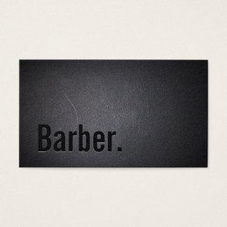 Cartes De Visite Minimaliste noir professionnel de coiffeur