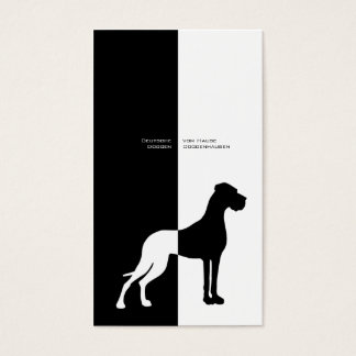 Cartes De Visite Minimalistic décomposer Black White great dane