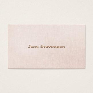 Cartes De Visite Minimalistic est regard de toile rose-clair doux