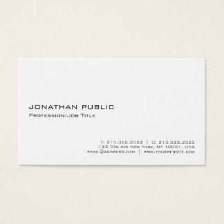 Cartes De Visite Minimalistic professionnel blanc élégant moderne