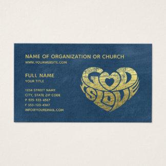 Cartes De Visite Ministère religieux chrétien du pasteur   d'église
