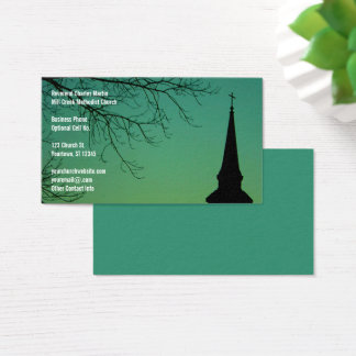 Cartes De Visite Ministre de Steeple d'église chrétienne