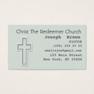 Cartes De Visite Missionnaire croisé chrétien graphique de religion