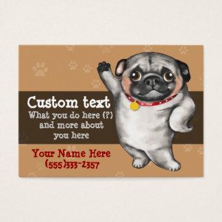 Cartes De Visite Modèle de marcheur de chien de Groomer de chien de