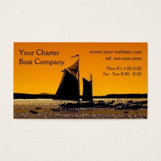 Cartes De Visite Modèle de silhouette de navigation
