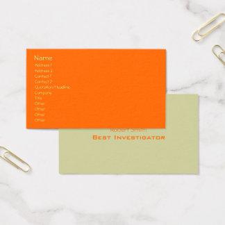 Cartes De Visite Modèle facile, orange de plaine