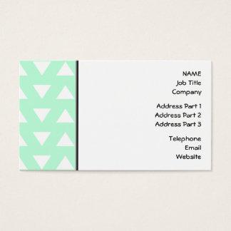 Cartes De Visite Modèle géométrique vert et blanc en bon état