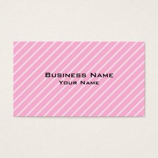Cartes De Visite Modèle rayé diagonal rose de sucrerie