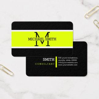 Cartes De Visite Moderne Chartreuse professionnel de monogramme