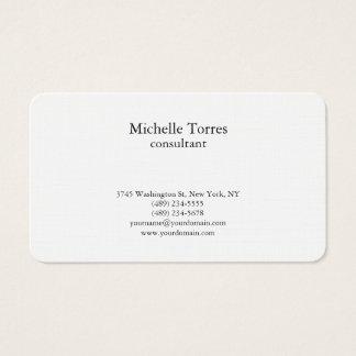 Cartes De Visite Moderne créatif simple noir et blanc minimaliste