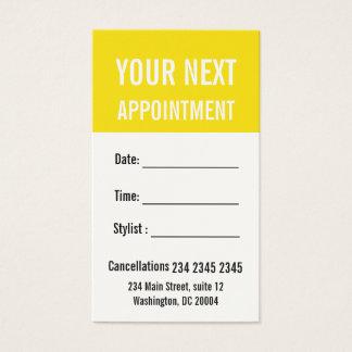 Cartes De Visite Moderne jaune de renoncule votre prochain