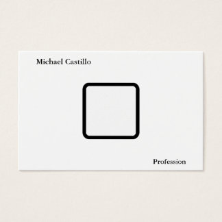 Cartes De Visite Moderne minimaliste blanc noir élégant simple