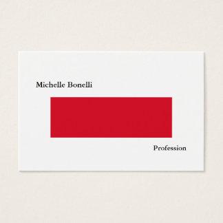 Cartes De Visite Moderne minimaliste blanc rouge simple simple