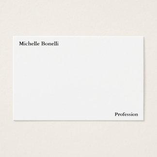 Cartes De Visite Moderne minimaliste blanc simple simple