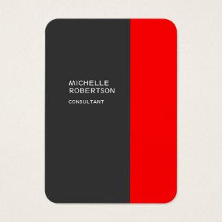 Cartes De Visite Moderne minimaliste rouge gris élégant potelé