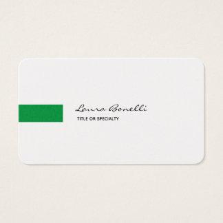 Cartes De Visite Moderne professionnel vert blanc noir de toile de
