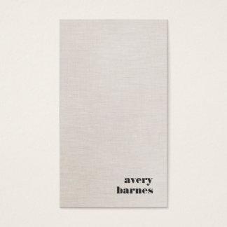 Cartes De Visite Moderne simple de toile de Faux de Minimalistic