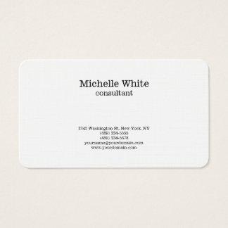 Cartes De Visite Moderne simple simple noir et blanc minimaliste