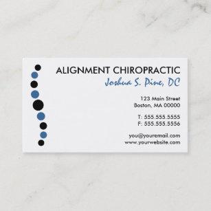 Cartes De Visite Modernes Chiropractie
