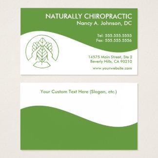 Cartes de visite modernes de chiropractie de