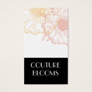 Cartes de visite modernes de fleuriste