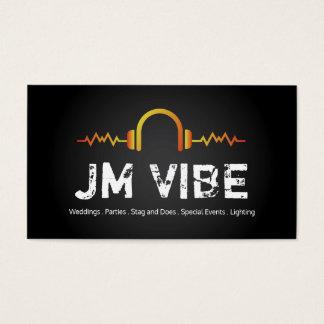 Cartes de visite modernes et audacieux du DJ