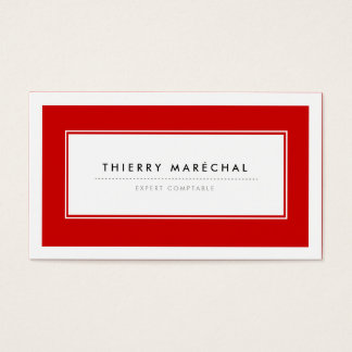 Cartes de Visite Modernes Rouge