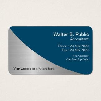Cartes de visite modernes simples de comptable