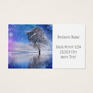 Cartes De Visite moment x-MAS-romantique 2 d'hiver