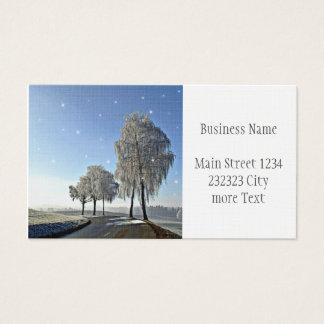 Cartes De Visite moment x-MAS-romantique 3 d'hiver