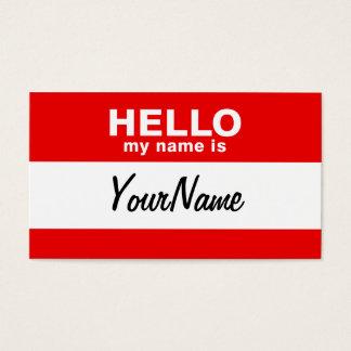 Cartes De Visite Mon nom est rouge fait sur commande vide de