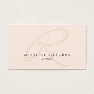 Cartes De Visite Monogramme minimaliste élégant rose de