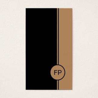 Cartes De Visite Monogramme noir et pâle élégant simple d'or