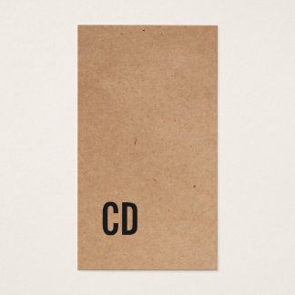 Cartes De Visite Monogramme noir frais moderne de papier