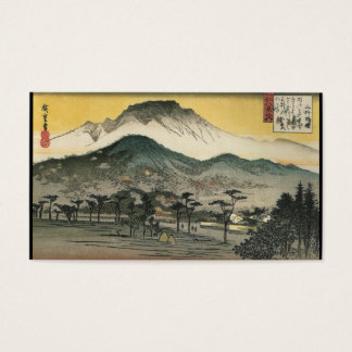 Cartes De Visite Montagnes japonaises circa 1800's